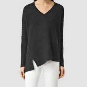 All Saints Riley Jumper Black Oversize Sweater